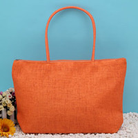 Wholesale hot beach bag candy bag duffel bag Summer Big Straw Shoulder Tote Shopper Beach Bags Purses knit bag DHL free