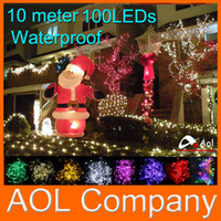 Wholesale Waterproof Outdoor Indoor V V Colors m LED String Lights Holiday Christmas Xmas Wedding Decorations Party New Year s Lighting