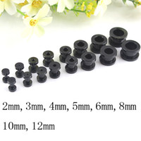 Wholesale promotional Mix size white and black uv acrylic ear plugs ear flesh tunnels piercing body jewelry ear studs BJ336