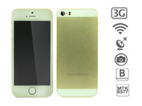 Wholesale gold Goophone hiphone S I5 Dual core MTK6577 android phone g MB RAM GB ROM MP camera we make a video to show all of function