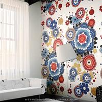 Wholesale Glass mosaic painting mosaic flower background wall tile ceramic