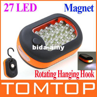 Wholesale Super bright LED Hook Lighting led Flashlight emergency Torch work light lamp with Magnet and Light Modes