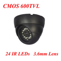 Fixed Focus Lens CMOS 600 Wholesale Free Shipping New High Resolution IR CMOS CCTV Dome Camera, 600tvl IR Distance20m Camera