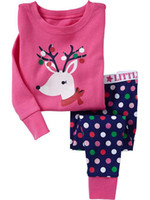 Wholesale Childrensuit Christmas underwear baby colothes Girl s outfit sets kids pajamas LWQ259H