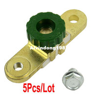TK0488# Golden + Green Approx 10 x 2.5 x 4cm (L x W x H) 5pcs Lot Wholesale New Cut Off Switch Side Post Battery Master Disconnect Switch Dropshipping TK0488 TK0488
