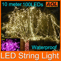 Wholesale 9 colors M LEDs LED String Lights Waterproof flash light Christmas party XMAS Fairy wedding lamps Twinkle light V V