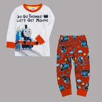 Wholesale AB4428 Nova m y baby boys outfits suits cartoon t shirt pants piece set casual homewear night pyjamas children aututmn winter clothing