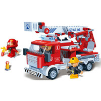 other Plastic  290 Pcs lot Entry Level EVA Fire Ladder Truck 3D Puzzle DIY Plastic Children Education Baby Toys Christmas new year Gift 2013