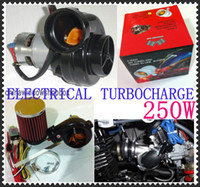 Wholesale Mini W Electric Turbocharger Supercharger KIT Car TurboCharger High quality Via DHL