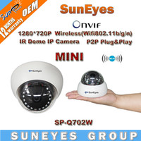 Wholesale SunEyes ONVIF P HD Mini Wifi Dome IP Camera MP Wireless Network CCTV Camera IR Night Vision P2P Plug Play IR CUT SP Q702W