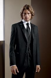 Wholesale 2015 Gentleman Style Haut Groom Tuxedos Men s Black tuxedo suit men Wedding Dress Prom Clothing Best slim fit suit men DH399