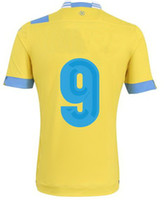 2013- 2014 #9 Higuain Away Yellow Soccer Jersey Thai Quality ...