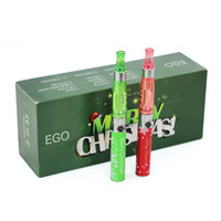 Wholesale Christmas Tree eGo Double Starter Kit Electronic Cigarette with USB Rechargable Battery CE4 Atomizer Nice Retail Box DHL Shipping
