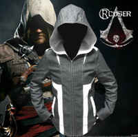 Men best l cosplay - SLIM FIT Assassin s Creed IV Black Flag Luxury Hoodie Cosplay Costume best Gift high quality
