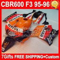 Repsol NEW+ 7gifts F3 95- 96 For HONDA CBR600F3 Orange red 199...