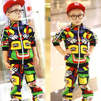 Unisex Spring / Autumn Children Wholesale Fashion children's Clothing Sets Autumn 2013 new boys suit YN154- free shipping