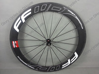 Wholesale Hot seller New mm black white F6R FFWD full carbon wheels with carbon hubs straight pull spokes clincher tubular
