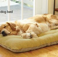 Mats & Accessories plush carpet - large size Pet Pad Sub Dogs Sofa Bed Top Grade Plush Mattress Mats Kennel Carpet Cloth brown