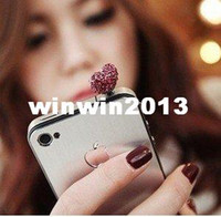 other Fashion Beads Min.order is $10 (mix order) Free Shipping Bead Cell Phone Accessories Phone Jewelry Heart Dust Plug Cute 00510