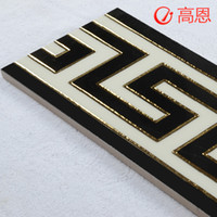 Wholesale Tv wall entranceway gold plated brick tile conductor floor tiles touchline line