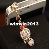 other 3.5mm iPhones/HTC/SUMSANG Min.order is $10(Mix order) Free Shipping New Cute Rhinestone Candy Cell Phone Dust Plug DP159