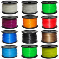3D Printer Supplies   3D printer Filament PLA ABS Filament 1.75mm 1kg roll Mutil-Color DHL free ship