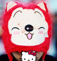 Wholesale 68 Winter Child Adult shipping cute cartoon animal plush warm ear hat A Beaver Chinchilla Panda