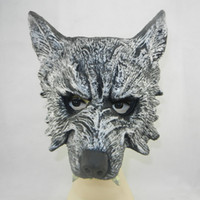 Wholesale horror wolf head mask soft PU Halloween bar decoration masquerade ball novelty birthday gift scary animal