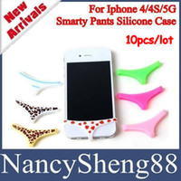 Wholesale 10PCS Cheap Price Smart Man Girl Style Pants Panties Undies Underwear Home Button Protector for iPhone S with Retail Package IP45