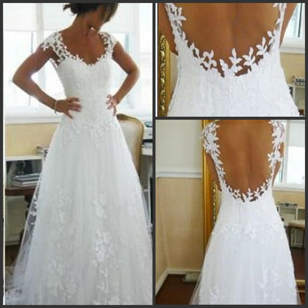 Discount 2016 Nicest Wedding Dress Ever A Line V Neck