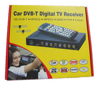 Cheap Car HD dvb-t Receiver Mobile Digital TV Box Support MPEG4 and H.264 HDMI output Double Dibcom car DVB-T tuners DHL free shipping