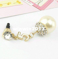 other ONLY FOR IPHONE alloy MINI ORDER USD10(mixed) Free shipping Earphone Ear Cap Dock Resin Dust Plug for Cell Phone