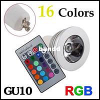 3W 110V-240V Yes 4W GU10 RGB LED Bulb Light 16 Color RGB Changing spotlight downlight 110V 220V with Remote Controller for Home Room Decoration