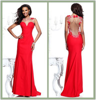 Pageant dresses 2014 tarik ediz sheer high collar long prom dresses