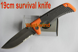 Wholesale 19cm BEAR Folding blade knife MAN VS WILD SCOUT PRIORITIES OF SURVIVAL POCKET GUIDE camping knife EDC hunting knife New in Original box