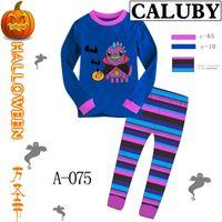 Unisex Spring / Autumn Long Boys Girls Cartoon Home Wear Set Cartoon Pattern TEE Tops+Trousers 2PCS House Wearing Outfit Cute Tshirt Pants Suit D0891