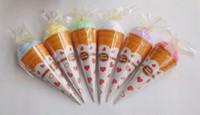 Wholesale Christmas gifts ice cream cake towel cm Square Towel Cake cotton Wedding Birthday Favors