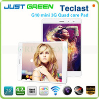 Teclast 7.9 inch  Quad Core DHL Free shipping Teclast G18 Mini 3G Phone Call Tablet Phablet 7.9 inch IPS screen Android 4.2 MT8389 Quad Core 1GB Ram 16GB Rom