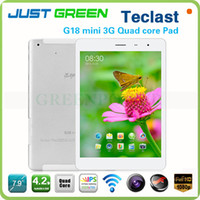 Teclast 7.9 inch Quad Core November New Arrival Teclast G18 Mini 7.9 inch IPS Quad Core screen Android MR8389 1.2GHz 1GB 16GB WCDMA 3G Phone Call Tablet Phablet GPS