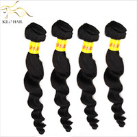 Wholesale Virgin Peruvian hair Extensions Bundles A Human Hair Weaves Loose Curl Wave Wavy Natural Human Hair Mix g inch to inch