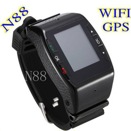 Wholesale Multi language Quadband WIFI Touch Screen Smart Watch Phone N88 with Camera Bluetooth Java FM MP3 MP4 Game E Book GPRS WAP Russian Mobile