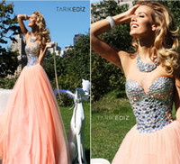 Reference Images Sweetheart Crepe Designer Tarik Ediz Pink Ball Gown Sweetheart Crystal celebrity Sexy Backless Tulle Floor-Length 2013 Evening Gowns Prom Dresses A26
