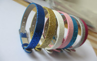 Wholesale pieces mm shiny PU leather bracelet diy MM slide charms slide letters