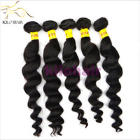 Wholesale 20 OFF Virgin Brazilian Remy Hair Weaving Dyeable Loose Curl Wave Black Natural Color Human Hair Weft bundles DHL