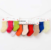 Wholesale Kids Short Sock Children Clothing Wool Socks Girls Cute Candy Color Sock Fashion Ankle Socks Baby Sock Multicolor Breathable Girl Clothes