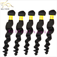 Wholesale 15 OFF Virgin Unprocessed Brazilian Human Hair Extensions bundles inch to inch Loose Curl Black Sew Weft Double Salon Beauty