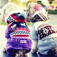 Wholesale snowflake dog clothes winter sweat shirt high quality pets clothing