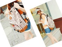 Wholesale 2013 new male pattern retro shoulder bag personalized newspaper Fashionable men and women couple satchel bag wsd239