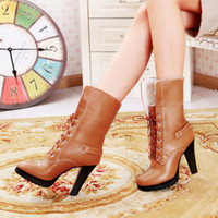 high heel rubber boots - 2014 fashion motorcycle boots lace up boots high heel boots snow boots ankle boots mid boots cowboy boots for lady designer rubber sole A799