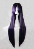 Wholesale 100cm Umineko no Naku Koro ni Frederica Bernkastel Purple Straight Cosplay Costume Wig inches High Temperature Fiber Wig BW006